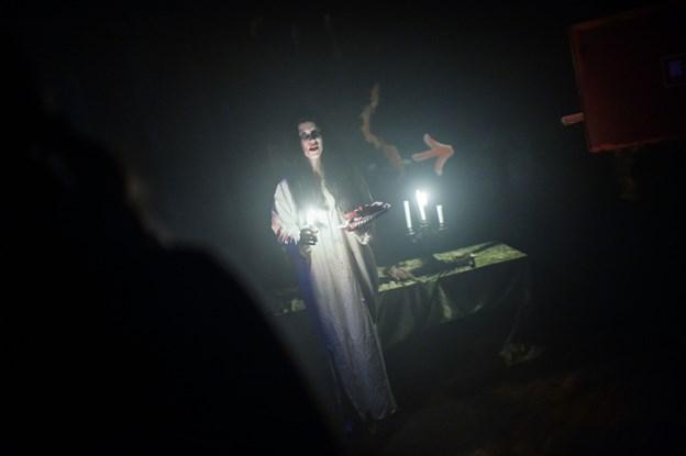 Aalborg Karneval anbefaler, at man er over 16, hvis man vil deltage i Horror Night, for det kan være en ganske skræmmende oplevelse.Arkivfoto: Henrik Bo