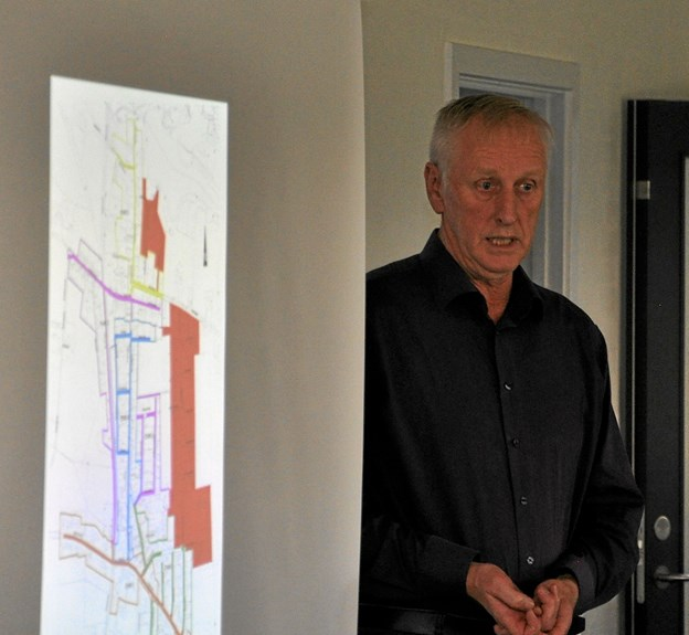 Projektleder Peter Hamborg gav en fyldig orientering om projektet, som kommer til at vare omkring fire år. Foto: Ole Torp