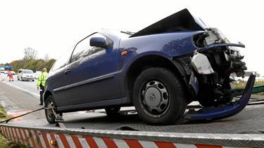 Uheld skabte stor kø på motorvej