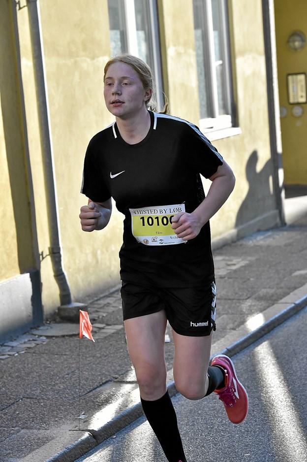 Camilla Pedersen vandt på kvindernes 6 km. i tiden 29.11 min. Foto: Ole Iversen