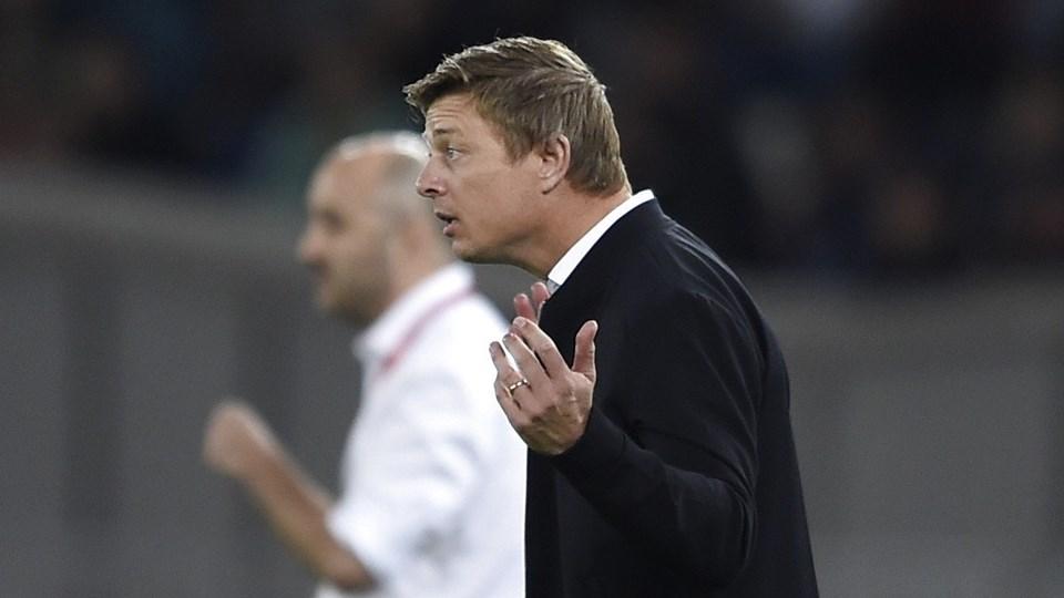 Jon Dahl Tomasson var ikke tilfreds med kreativiteten og antallet af chancer, som det danske hold fik skabt ude mod Georgien.