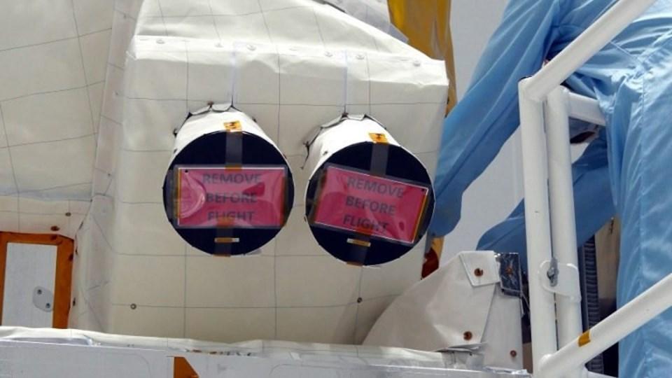 Terma har leveret to stjernekameraer til ESA satellitten Aeolus, der skal måle vindhastigheder fra rummet. Data fra satellitten skal sikre et bedre grundlag for at udarbejde vejrudsigter. Foto: Esa/Handout/Ritzau Scanpix