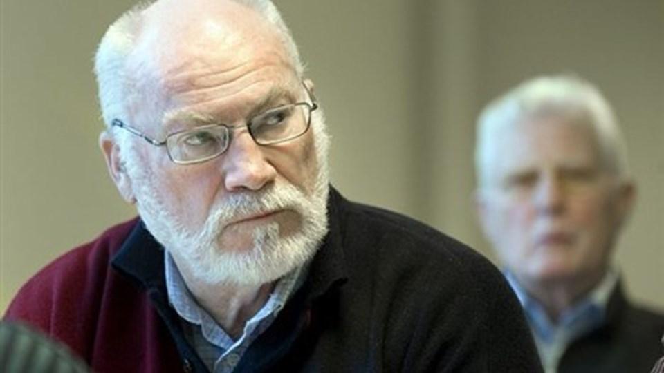 Henning Olsen fra sundhedsbrugerrådet var tilfreds med det, han hørte om patientflow. Foto: Henrik Louis