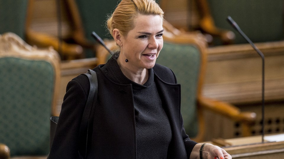 Udlændinge- og integrationsminister Inger Støjbergs (V) har som ambition, at hver anden flygtning skal være i arbejde efter tre år i Danmark. Foto: Mads Claus Rasmussen/arkiv/Ritzau Scanpix