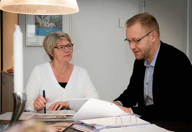 Den afgående og den tiltrædende direktør Anita Møller og Kurt Bennetsen. Foto: Tove Koch