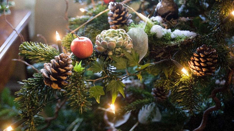 Det både dufter af jul og ligner umiskendeligt højtiden, som den kan have set ud i gamle dage på herregården hessel. Arkivfoto