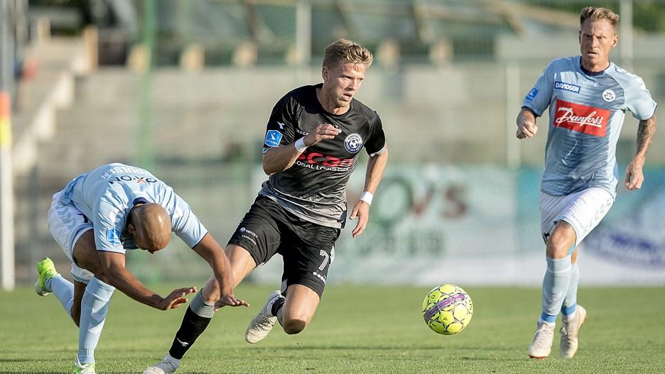 Lucas Jensen har et mål om at lave flere mål og assists for Vendsyssel FF. Foto: Lars Pauli