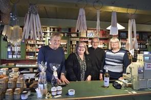 Klar til jul i købmandsgården i Tornby