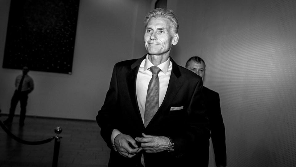Thomas F. Borgen, forhenværende direktør i Danske Bank efter pressemødet, hvor Danske Bank offentliggjorde sin egen undersøgelse af hvidvask i Tivoli Kongres Center i København, onsdag den 19. juni 2018.