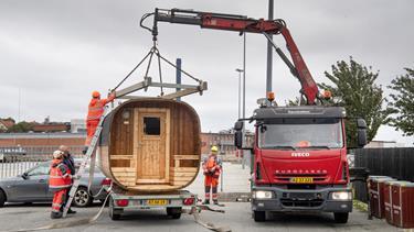 Vogn til hjemløse i Thisted på plads: - Vikingerne brugte også den metode
