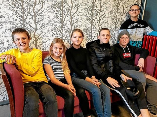 Miljøudvalget: Anton, Lea, Karoline, Mads, Sebastian og Ahmed. Foto: Karl Erik Hansen