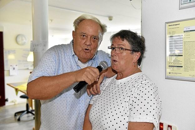 Dorthe Overgaard fra Solhjem viste også at hun kendte ordene i de gamle Bjørn og Okay sange.