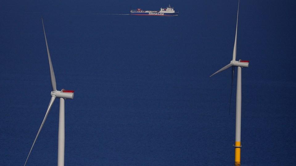 Ørsted, der opfører og driver vindmølleparker, havde solid fremdrift i årets ni første måneder. (arkiv)