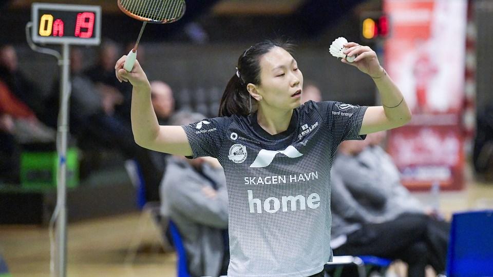 Beiwen Zhang er normalt første navn på holdkortet hos Vendsyssel Elite Badminton. en hun har fået fri i mandagens kvartfinale. Arkivfoto: Lars Pauli