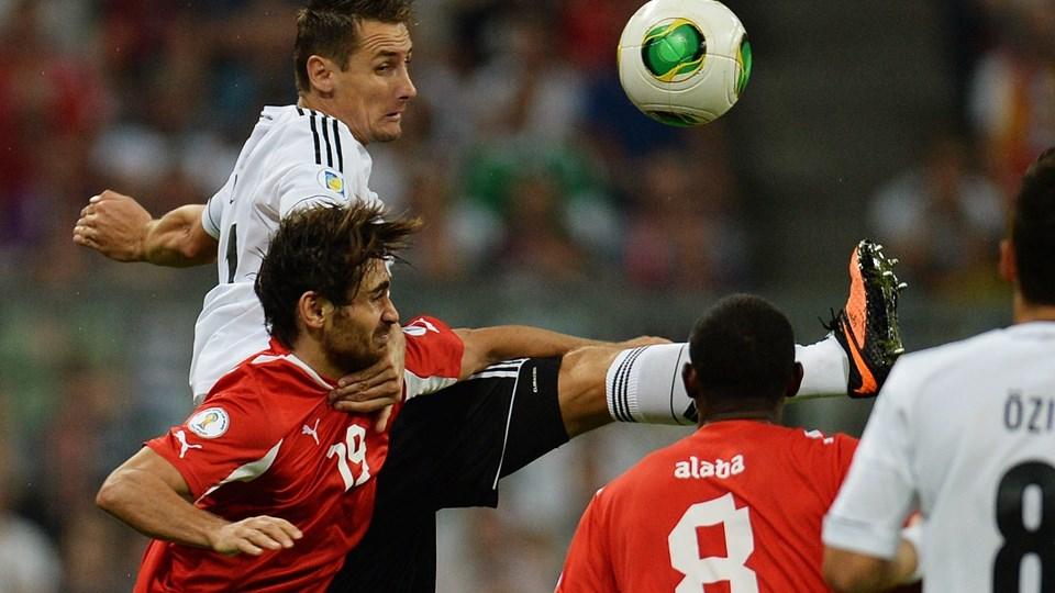 Miroslav Klose er nu oppe på 68 landskampsmål. Foto: Scanpix