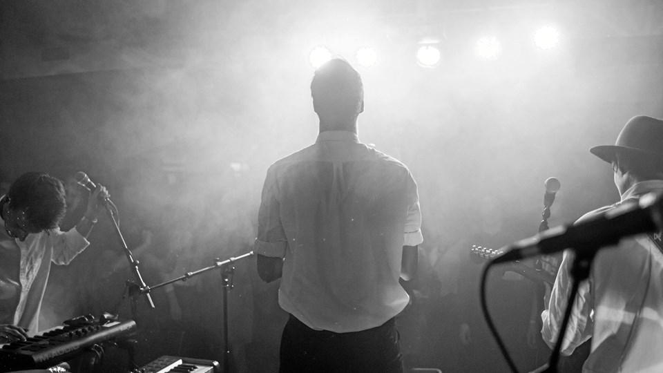 Koncert på Aarhus Universitet, bandets første koncert under navnet Pala. Foto: Philip Bo