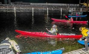 Lucia-optog i vandoverfladen