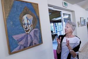 En næsten glemt teknik: Nu kan du se fragmenter af fresko-maleri på Kirsten Kjærs Museum