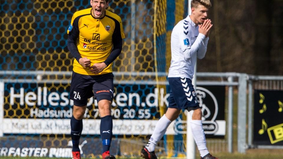 Rasmus Minor var ikke fornøjet efter nederlaget til AGF. Foto: Andreas Falck