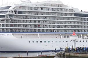 Norsk krydstogtskib er nået i havn
