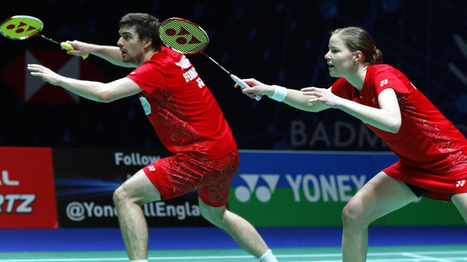 Mathias Christiansen og Christinna Pedersen er blandt de sidste fire par i deres første All England sammen. Scanpix/Sportxpress