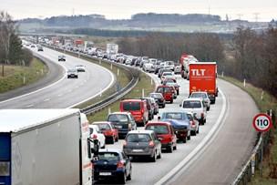 Tre uheld på E45: Det tog længere tid at komme på arbejde