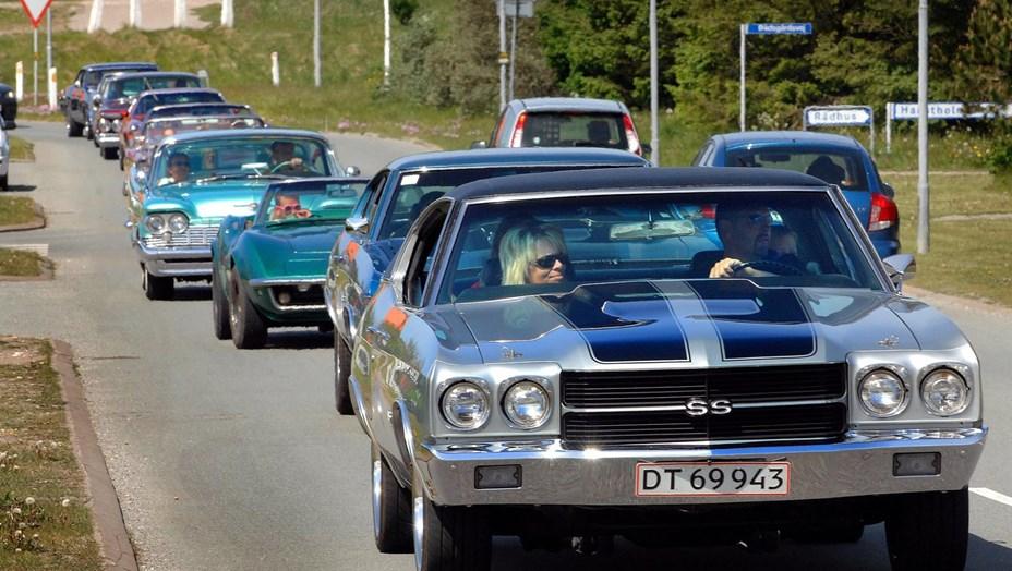 Vorupør fejrer Fars Dag med amerikanske biler