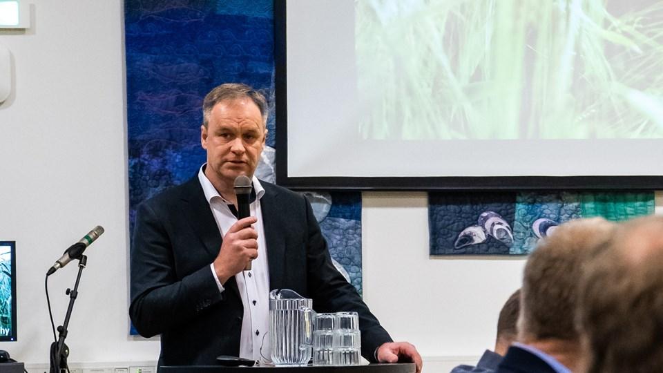 Leif Gravesen blev uden modkandidater genvalgt som formand for LandboThy.Foto: Diana Holm