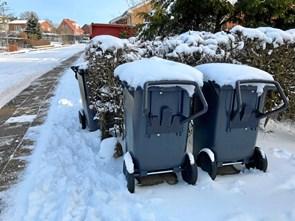 Affald og sne: Få det til at glide lidt nemmere ...