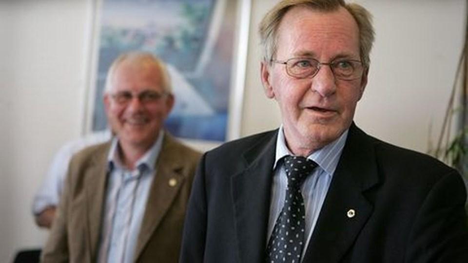 En hvid løgn havde fået Bent Brown til at tro, Jens Ole Jørgensen bagved her skulle have den første Vestbyprisen. Men det var Bent Brown selv. Foto: Bente Poder