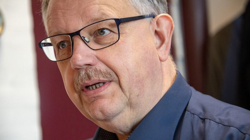 Borgmester Mogens Chr. Gade (V) fortæller, at Jammerbugt Kommunes tilbagebetaling af en bevilling gik direkte i Britta Nielsens lommer. Arkivfoto: Kim Dahl Hansen