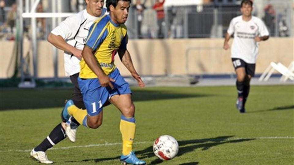 Hobro IK's topscorer, Danilo Arrieta har scoret seks mål i efteråret.  Arkivfoto: Lars Pauli