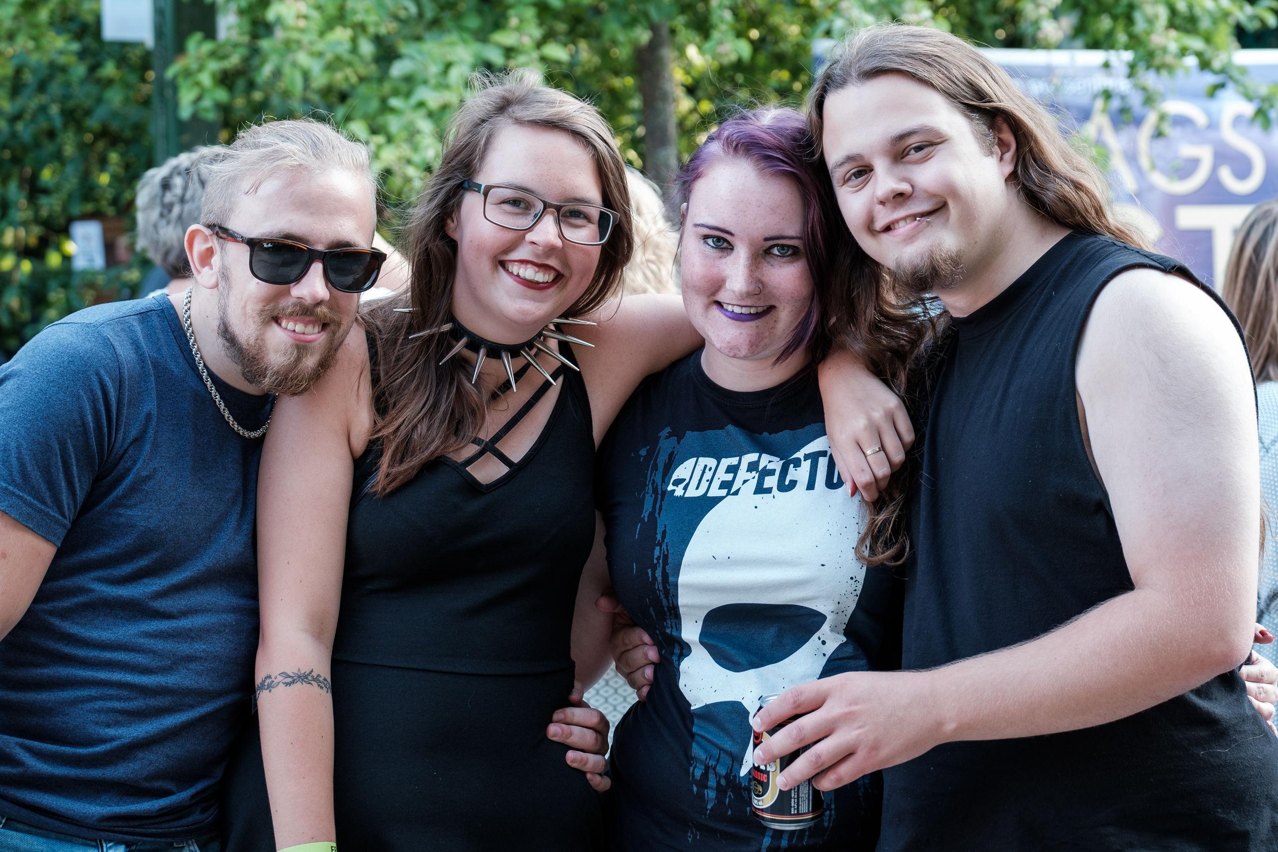 Fra venstre Frederik Luther, Kira Andersen, Chandra Søberg og Dennis Pedersen. Foto: Lasse Sand