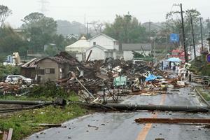 Tyfonen Hagibis har krævet sit første dødsoffer i Japan
