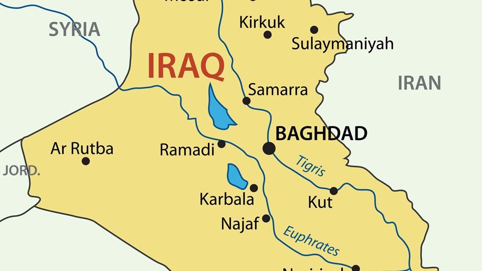 Republic of Iraq - map Foto: Free/Free