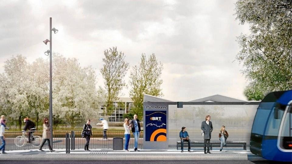 Stoppestedet ved Haraldslund er led i 1. etape i det tre år lange anlægsproces. Stoppesteder med tilhørende forpladser tages i brug af de nuværende busser i takt med, at de er klar.