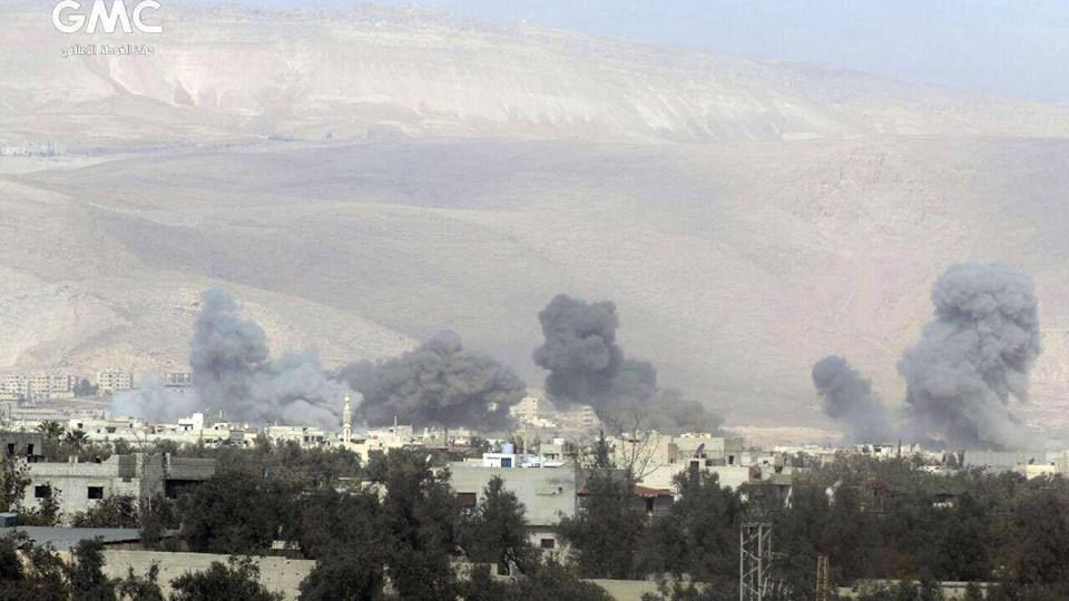Et russisk luftangreb har ifølge observatørgruppe dræbt 18 civile onsdag. Foto: /ritzau/AP/Uncredited/arkiv