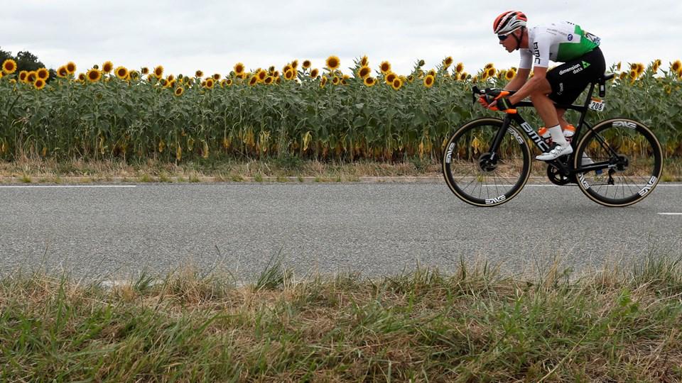 Michael Valgren blev nummer 18 på 12. etape efter en dag i udbrud.