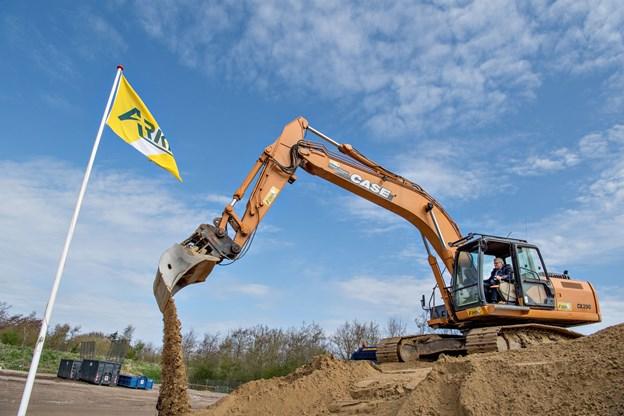 Den nye genbrugsplads havde første spadestik tidligere på året. Arkivfoto: Henrik Louis