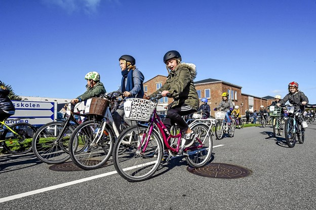 Cykelhjelmen var spændt.. Foto: Ole Iversen