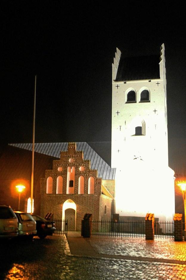 20. november danner Vester Hassing Kirke ramme om en gospelkoncert med de vordende konfirmander. Foto: Allan Mortensen