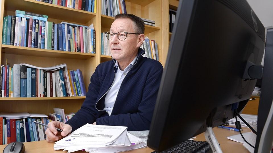 Professor Erik Elgaard Sørensen er død, 64 år. Arkivfoto: Claus Søndberg