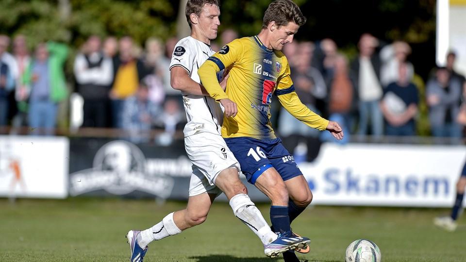 Hobros Dennis Høegh scorede to kasser i mandagens reservekamp mod Viborg. Arkivfoto