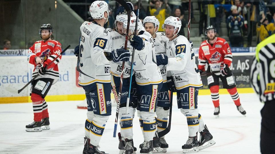 Aalborg Pirates tabte den første kamp i kvartfinalerne. Foto: Hans Ravn