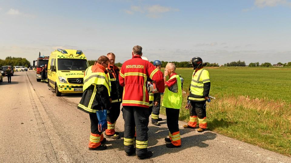 Ved ulykken mistede en 56-årig kvinde livet. Arkivfoto: Jan Pedersen