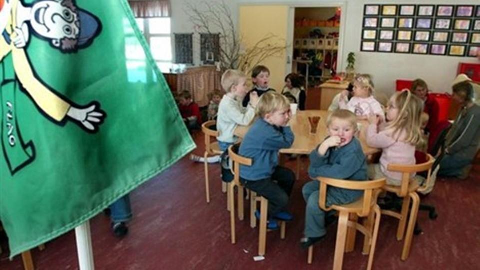 Tillidsmændene fra kommunens børneinstitutioner advarer mod nedskæringer i åbningstider og normeringer. Arkivfoto: Carl Th. Poulsen