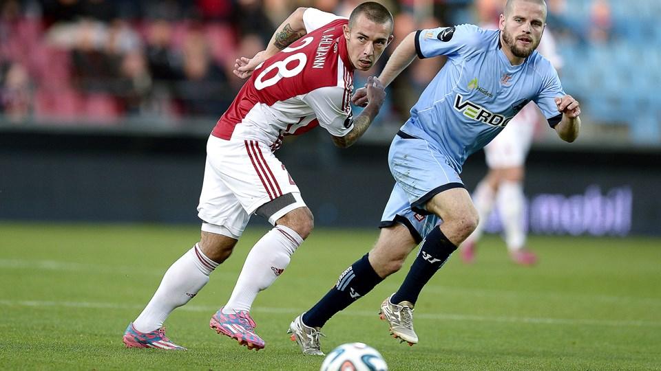 Viktor Ahlmann scorede for AaB i reservekampen mod AGF. Foto: Henrik Bo