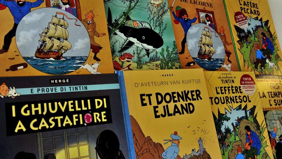 Den unge reporter Tintins eventyr skal omsættes til et mobilspil af det danske selskab Hugo Games. Foto: Georges Gobet/ritzau Scanpix