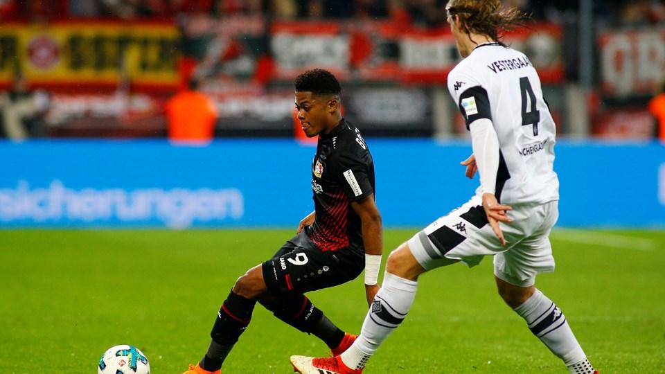 Jannik Vestergaard blev skadet i Borussia Mönchengladbachs opgør mod Bayer Leverkusen 10. marts. Foto: Reuters/Thilo Schmuelgen