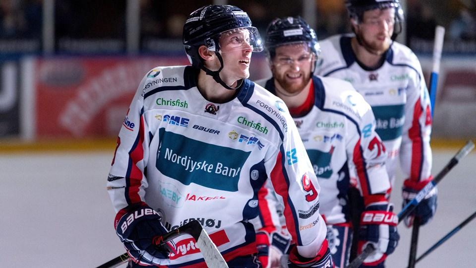 Søren Nielsen scorede to gange i første periode, da Frederikshavn slog Herlev. Foto: Torben Hansen